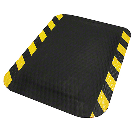 64230235 3x5 HogHeaven Ergonomic Black/Yellow Grease Proof; Cushioned Foam