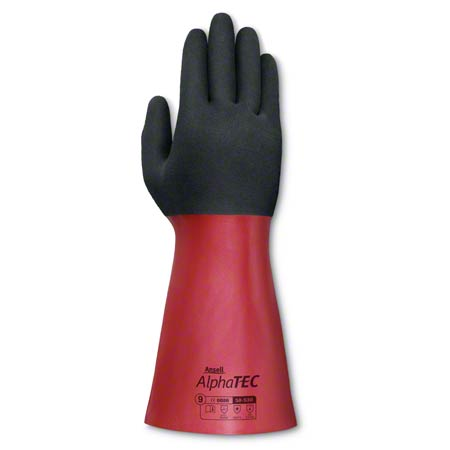 58-530-10 ALPHATEC COATED NITRILE ANSELL HIGH GRIP RED/BLK SZ.10 XL