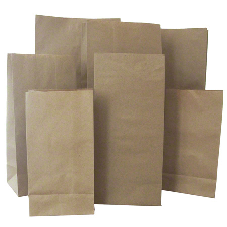 KRAFT PAPER BAG 14lb 500/BUNDLE 7.75×13.5×15