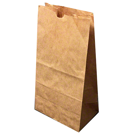 "4600000 50LB 12""x7""x17"" BROWN GROCERY PAPER BAG DD50 500/BDL"