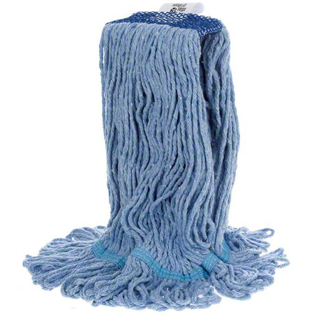 MW-SLR2M-NB-BL SUPER LOOPER MEDIUM BLUE LOOPED END MOP HEAD, 20 OZ.