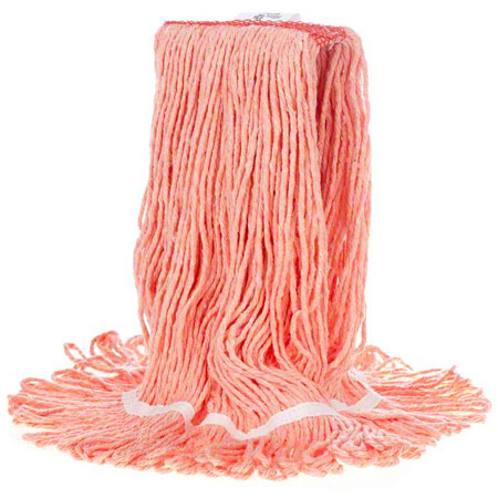 MWSLR2MNBOR MEDIUM, ORANGE LOOPED END MOP HEAD (20 OZ)