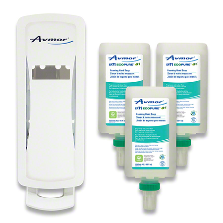 0000258078 BIOMAXX 1250 STARTER KIT - WHITE DISPENSER, INCLUDES 3 CARTRIDGES OF EP71 FOAMING HAND SOAP