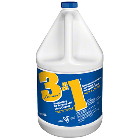 0294278001 3 IN 1 DISINFECTING ALL PURPOSE AND GLASS CLEANER 4 X 4L