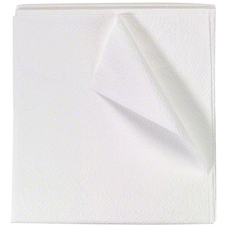 "DRAPE DISPOSABLE WHITE GOWNS 40"" X 48"" 2-PLY TISSUE 100/CASE"