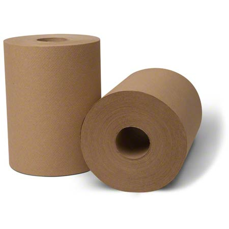 8631060 ECOSOFT KRAFT ROLL TOWELS 550 X 6 ROLLS GREENSEAL