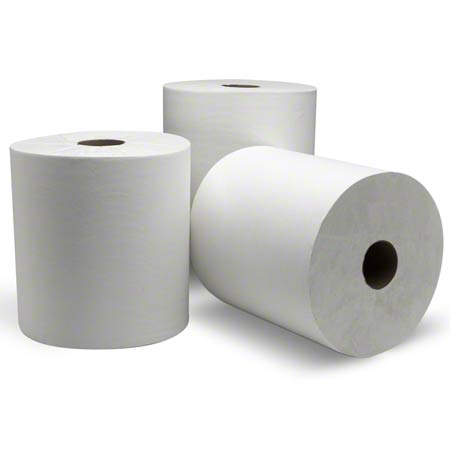 8038040 DUBL NATURE WHITE ROLL TOWELS 800 X 6 RL/CS GREENSEAL