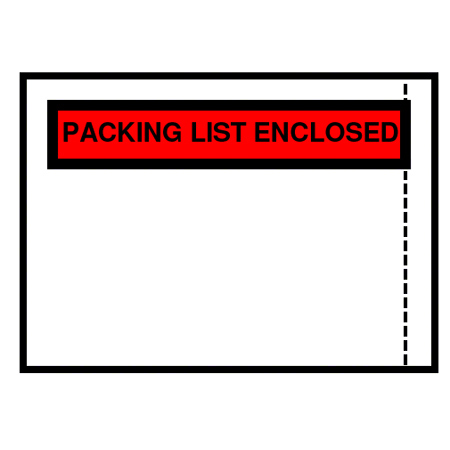 "BC101 PACKING LIST ENCLOSED ENGLISH ONLY TOP 4.5""x5.5"" 1M/CS"