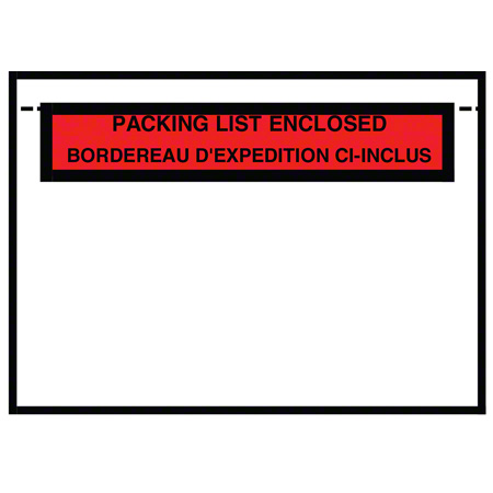 FBC461 7 X 5.5 PACKING LIST ENCLOSED (BIL) ENVELOPE 1M/BX