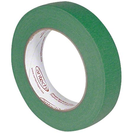 109-07 GREEN MASKING TAPE 24MMX55M SAFE TACK 36RL/CASE