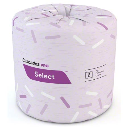 B021 SELECT SOFT-WHITE 2PLY BATHROOM TISSUE, 420SHTS, 48RLS/CS (PG140)
