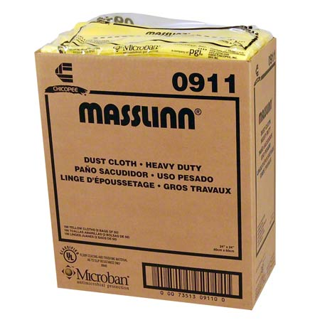 "0911 24""X24"" CHICOPEE MASSLINN YELLOW HD DUST CLOTH 50/BX 100/CS"