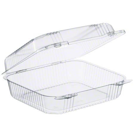 YC18-1120 STAYLOCK CLEAR HINGED LID CONTAINER DART 8.3 X7.8 X3 250/CASE