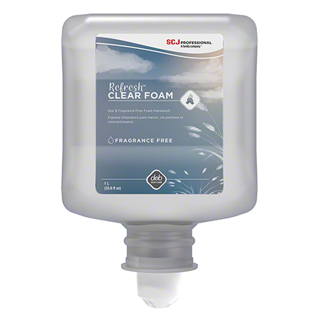 CLR1L DEB REFRESH CLEAR FOAM WASH 6 X 1 LTR/CS