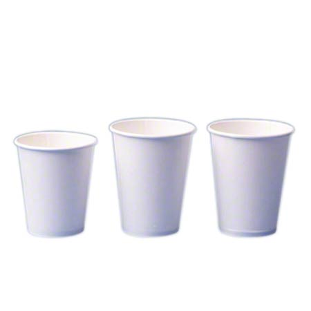 2338W 8 OZ. HOT DRINK CUPS WHITE, 1000/CS.