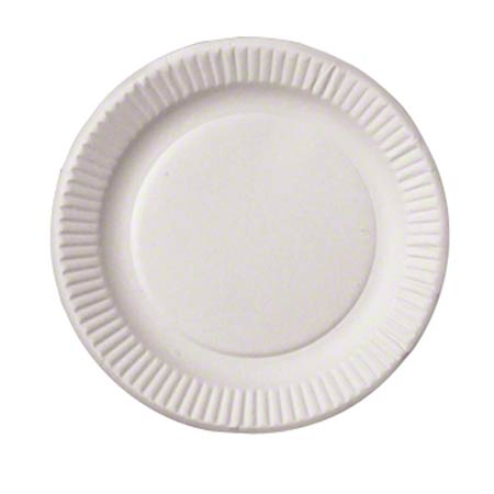 "6"" UNCOATED PAPER PLATES WHITE 1000/CS FS1008"