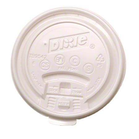 TB9540 DIXIE FLAT TEAR BACK LID FOR 2340 CUP WHITE 1000/CS