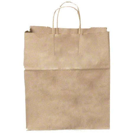 KBH13713 KRAFT PAPER BAG TWISTED HANDLE 13X7X13 250/CS