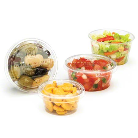 GXL250 LID FOR PORTION CUP 2oz PLA( COMPOSTABLE) 2000/CASE