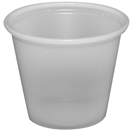 CUP PORTION PLASTIC CLEAR 1 OZ FABRIKAL 2500/CASE