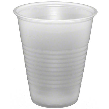 CUP PLASTIC 7oz TRANSLUCENT 2500/CASE