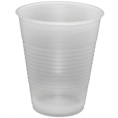 CUP PLASTIC 9oz TRANSLUSCENT 2500/CASE