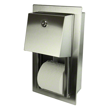 165R DOUBLE TOILET DISPENSER RECESSED FROST - STAINLESS STE