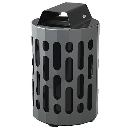 2020-BLACK STINGRAY WASTE RECEPTACLE BLACK/GREY 160L/35 GAL.