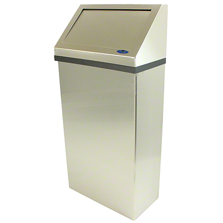 303-3 FROST STAINLESS STEEL BRUSHED FINISH WALL MOUNTED WASTE RECEPTACLE WITH LINER