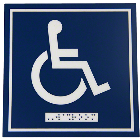 964 HANDICAP WASHROOM SIGN FROST