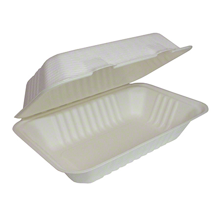 30875 8.75 X 5.5 HINGED LID CONTAINER COMPOSTABLE 200/CS