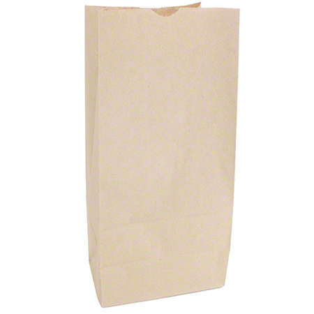 KRAFT PAPER BAG 10lb SOS 500/BUNDLE 6.75×10.5×15