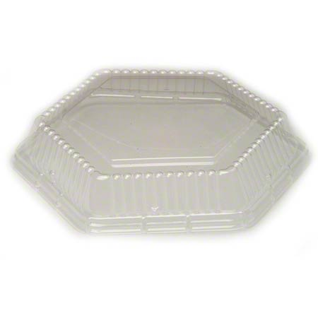 "SMART SET 9"" HEXAGON LID CLEAR 200/CS"