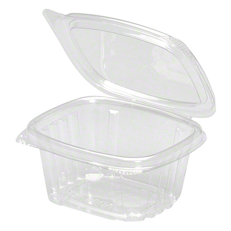 AD06 GENPAK 6oz HINGED CLEAR PLASTIC DELI CONTAINER 400/CS