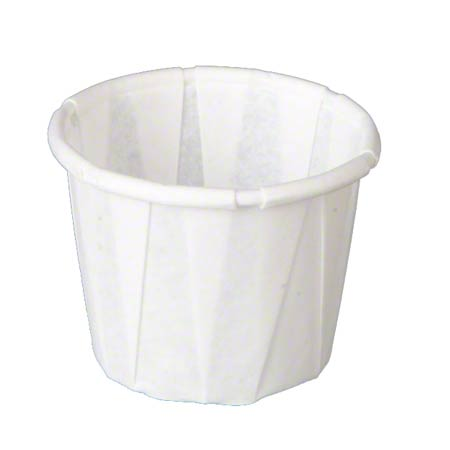 1/2 OZ. PLEATED PORTION CUP PAPER. 5M PER CS.