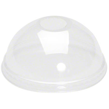 LCHD24-CL DOME LID CLEAR PET W/HOLE FOR CH16, CH20, CH24 1000/CASE