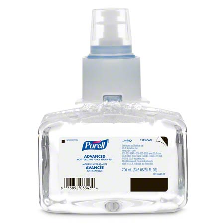 1313-03-CAN00 LTX-7 PURELL FOAM ADVANCED MOISTURIZING HAND SANITIZER 3 X 700ML/CS