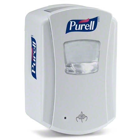 1320-04 GOJO LTX-7 TOUCH FREE PURELL DISPENSER, WHITE/WHITE