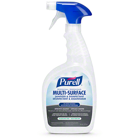 3345-06-CAN00 PURELL PROFESSIONAL MULTI-SURFACE SANITIZER & DISINFECTANT RTU - BOTTLES CAPPED & SEALED WITH TRIGGERS 6 X 946ML