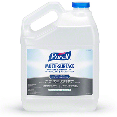 4345-04-CAN00 PURELL PROFESSIONAL MULTI-SURFACE SANITIZER & DISINFECTANT 4 X 3.78L/CS RTU REFILLS