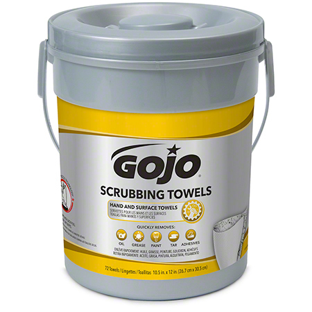 6396-06 - GOJO SCRUBBING WIPES, 72 SHTS/CANNISTER, 6/CASE