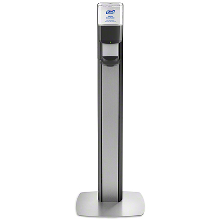 7316-DS-SLV PURELL MESSENGER ES6 FLOOR STAND - GRAPHITE WITH SILVER PANEL (DISPENSER INCLUDED)