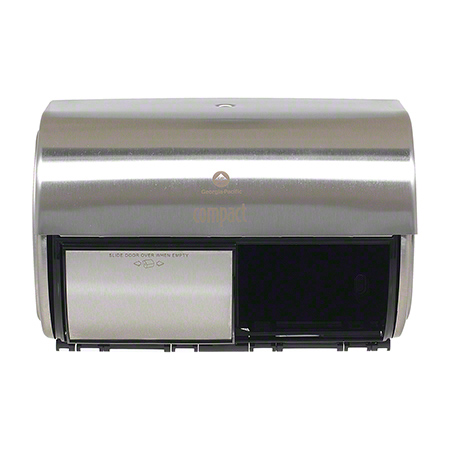 56798 GP Compact® Stainless Side-By-Side Double Roll Toilet Paper Dispenser