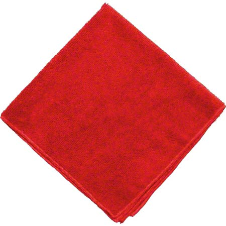 "RED MICROFIBRE TOWEL 16"" X 16"" 10/PKG"