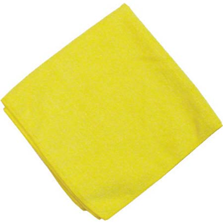 "YELLOW MICROFIBRE TOWEL 16"" X 16"" 10/PKG"