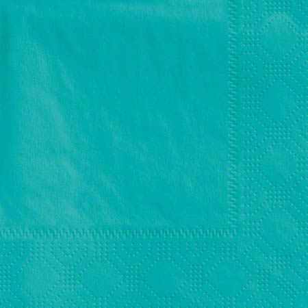 610-D1 BEVERAGE NAPKIN 2PLY TEAL 1000/CS
