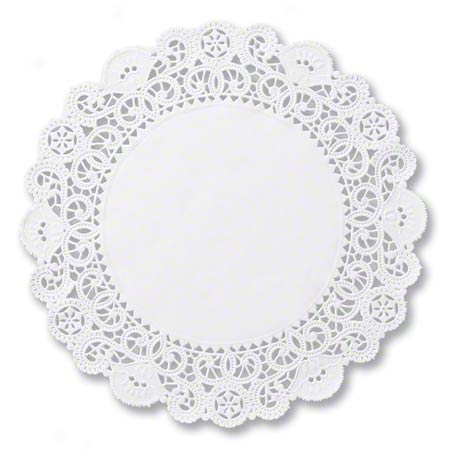 "BLA10 DOILIES LACE 10"" WHITE 500/BOX"