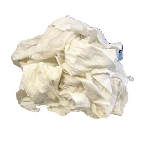 "RAGS WHITE #1 COTTON 25LBS/BAG ""SCANNED FOR NO METAL"""