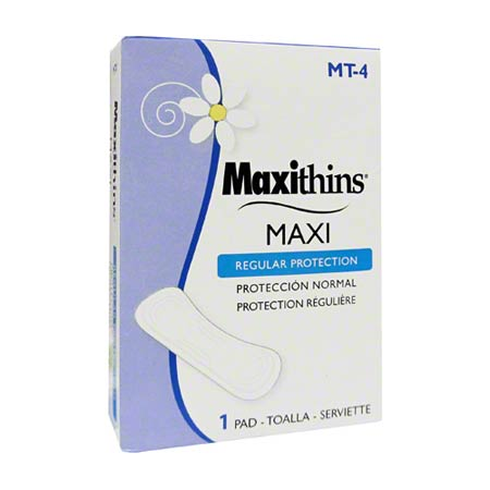 MT-4 MAXITHINS REGULAR #4 MAXI NAPKIN 250/CS