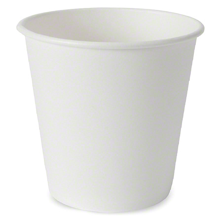 1H10W-PR CUP PAPER HOT PRONTO 10 OZ SINGLE WALL WHITE SQUAT 1000/CASE